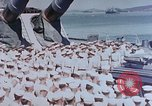 Image of Change of Command ceremony aboard battleship Pacific Theater, 1944, second 7 stock footage video 65675071668