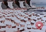 Image of Change of Command ceremony aboard battleship Pacific Theater, 1944, second 9 stock footage video 65675071668