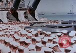 Image of Change of Command ceremony aboard battleship Pacific Theater, 1944, second 12 stock footage video 65675071668