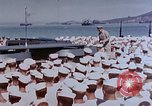 Image of Change of Command ceremony aboard battleship Pacific Theater, 1944, second 15 stock footage video 65675071668