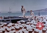Image of Change of Command ceremony aboard battleship Pacific Theater, 1944, second 18 stock footage video 65675071668