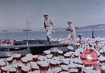 Image of Change of Command ceremony aboard battleship Pacific Theater, 1944, second 19 stock footage video 65675071668
