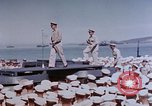 Image of Change of Command ceremony aboard battleship Pacific Theater, 1944, second 20 stock footage video 65675071668