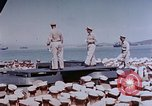 Image of Change of Command ceremony aboard battleship Pacific Theater, 1944, second 21 stock footage video 65675071668