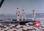 Image of Change of Command ceremony aboard battleship Pacific Theater, 1944, second 22 stock footage video 65675071668