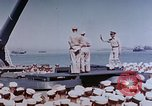 Image of Change of Command ceremony aboard battleship Pacific Theater, 1944, second 23 stock footage video 65675071668