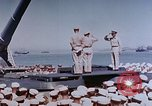 Image of Change of Command ceremony aboard battleship Pacific Theater, 1944, second 24 stock footage video 65675071668