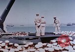 Image of Change of Command ceremony aboard battleship Pacific Theater, 1944, second 25 stock footage video 65675071668