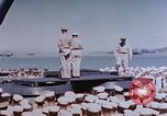 Image of Change of Command ceremony aboard battleship Pacific Theater, 1944, second 26 stock footage video 65675071668