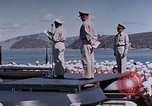 Image of Change of Command ceremony aboard battleship Pacific Theater, 1944, second 27 stock footage video 65675071668
