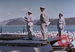 Image of Change of Command ceremony aboard battleship Pacific Theater, 1944, second 28 stock footage video 65675071668