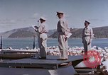 Image of Change of Command ceremony aboard battleship Pacific Theater, 1944, second 29 stock footage video 65675071668