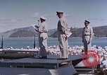 Image of Change of Command ceremony aboard battleship Pacific Theater, 1944, second 30 stock footage video 65675071668
