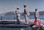Image of Change of Command ceremony aboard battleship Pacific Theater, 1944, second 31 stock footage video 65675071668