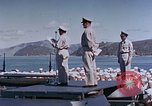 Image of Change of Command ceremony aboard battleship Pacific Theater, 1944, second 33 stock footage video 65675071668