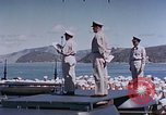 Image of Change of Command ceremony aboard battleship Pacific Theater, 1944, second 34 stock footage video 65675071668