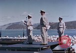 Image of Change of Command ceremony aboard battleship Pacific Theater, 1944, second 35 stock footage video 65675071668