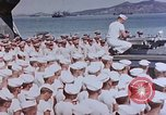 Image of Change of Command ceremony aboard battleship Pacific Theater, 1944, second 36 stock footage video 65675071668