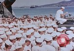 Image of Change of Command ceremony aboard battleship Pacific Theater, 1944, second 37 stock footage video 65675071668