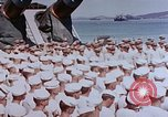 Image of Change of Command ceremony aboard battleship Pacific Theater, 1944, second 39 stock footage video 65675071668