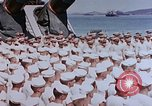 Image of Change of Command ceremony aboard battleship Pacific Theater, 1944, second 40 stock footage video 65675071668