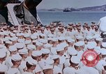 Image of Change of Command ceremony aboard battleship Pacific Theater, 1944, second 41 stock footage video 65675071668