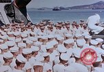 Image of Change of Command ceremony aboard battleship Pacific Theater, 1944, second 42 stock footage video 65675071668