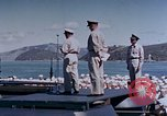 Image of Change of Command ceremony aboard battleship Pacific Theater, 1944, second 43 stock footage video 65675071668