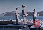 Image of Change of Command ceremony aboard battleship Pacific Theater, 1944, second 44 stock footage video 65675071668