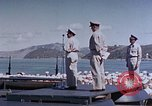 Image of Change of Command ceremony aboard battleship Pacific Theater, 1944, second 47 stock footage video 65675071668