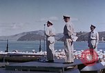 Image of Change of Command ceremony aboard battleship Pacific Theater, 1944, second 48 stock footage video 65675071668