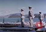 Image of Change of Command ceremony aboard battleship Pacific Theater, 1944, second 49 stock footage video 65675071668
