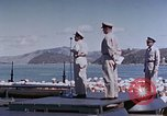 Image of Change of Command ceremony aboard battleship Pacific Theater, 1944, second 50 stock footage video 65675071668