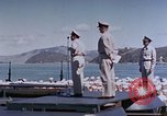Image of Change of Command ceremony aboard battleship Pacific Theater, 1944, second 51 stock footage video 65675071668