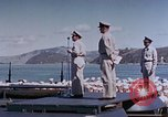 Image of Change of Command ceremony aboard battleship Pacific Theater, 1944, second 52 stock footage video 65675071668