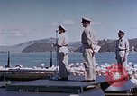 Image of Change of Command ceremony aboard battleship Pacific Theater, 1944, second 53 stock footage video 65675071668