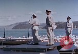 Image of Change of Command ceremony aboard battleship Pacific Theater, 1944, second 54 stock footage video 65675071668