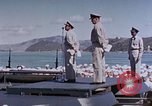 Image of Change of Command ceremony aboard battleship Pacific Theater, 1944, second 55 stock footage video 65675071668