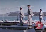 Image of Change of Command ceremony aboard battleship Pacific Theater, 1944, second 56 stock footage video 65675071668