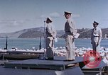 Image of Change of Command ceremony aboard battleship Pacific Theater, 1944, second 57 stock footage video 65675071668