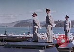 Image of Change of Command ceremony aboard battleship Pacific Theater, 1944, second 58 stock footage video 65675071668