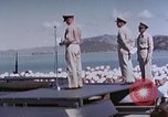 Image of Change of Command ceremony aboard battleship Pacific Theater, 1944, second 61 stock footage video 65675071668