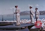 Image of Change of Command ceremony aboard battleship Pacific Theater, 1944, second 62 stock footage video 65675071668