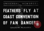 Image of fan dancers San Diego California USA, 1936, second 1 stock footage video 65675071671
