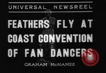 Image of fan dancers San Diego California USA, 1936, second 2 stock footage video 65675071671