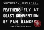 Image of fan dancers San Diego California USA, 1936, second 5 stock footage video 65675071671