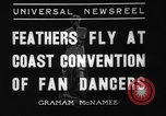 Image of fan dancers San Diego California USA, 1936, second 8 stock footage video 65675071671