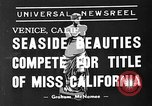 Image of beauty contest Venice Beach Los Angeles California USA, 1939, second 2 stock footage video 65675071714