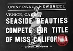 Image of beauty contest Venice Beach Los Angeles California USA, 1939, second 3 stock footage video 65675071714