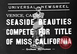 Image of beauty contest Venice Beach Los Angeles California USA, 1939, second 5 stock footage video 65675071714